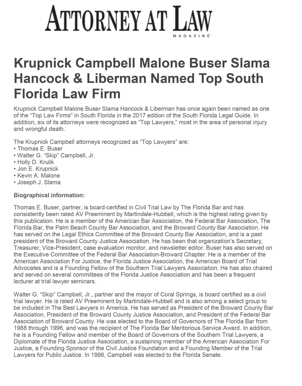 Krupnick Campbell